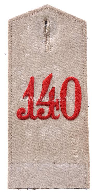 Preußen Einzel Schulterklappe für Mannschaften im 4. Westpreußischen Infanterie-Regiment Nr. 140
