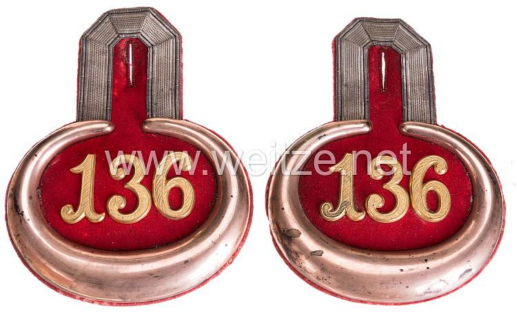 Preußen Paar Epauletten für einen Leutnant im 4. Lothringisches Infanterie-Regiment Nr. 136