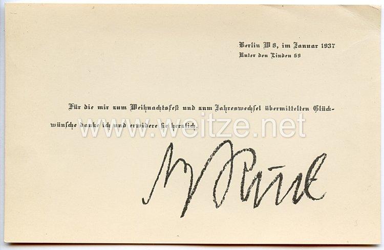Luftwaffe - Faksimileunterschrift von Ritterkreuzträger Oberst Fritz Morzik