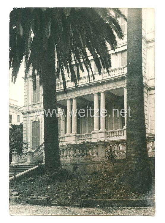 3. Reich Pressefoto: Villa Zirio in Sen-Remo, ein Geschenk für den FÜhrer 27.12.1939