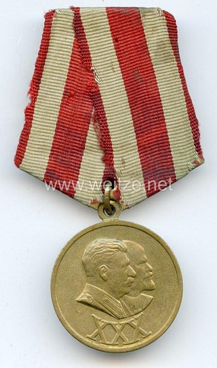 Sowjetunion Medaille 30 Jahre Oktoberrevolution 1948