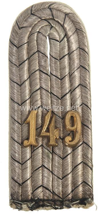 Preußen Einzel Schulterstück für einen Leutnant 6. Westpreußisches Infanterie-Regiment Nr. 149