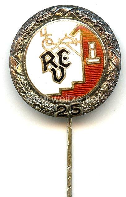 Reichseinheitsverband des deutschen Gaststättengewerbes ( REV ) -Silberne Ehrennadel für 25 jährige Mitgliedschaft