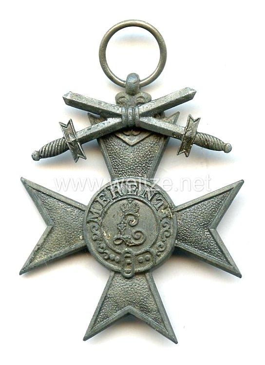 Bayern Militär-Verdienst-Kreuz 3.Klasse mit eisernen Schwertern 1917
