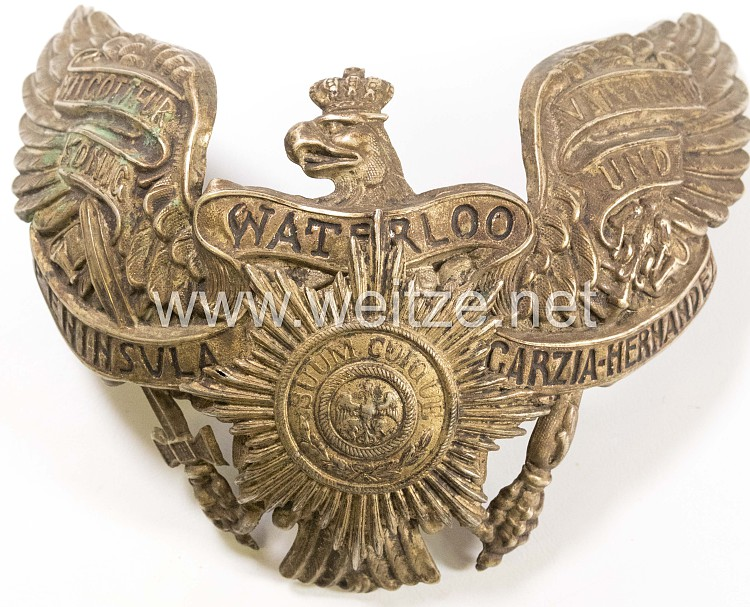 Preußen Tschapka Adler für Mannschaften im Königs-Ulanen-Regiment (1. Hannoversches) Nr. 13