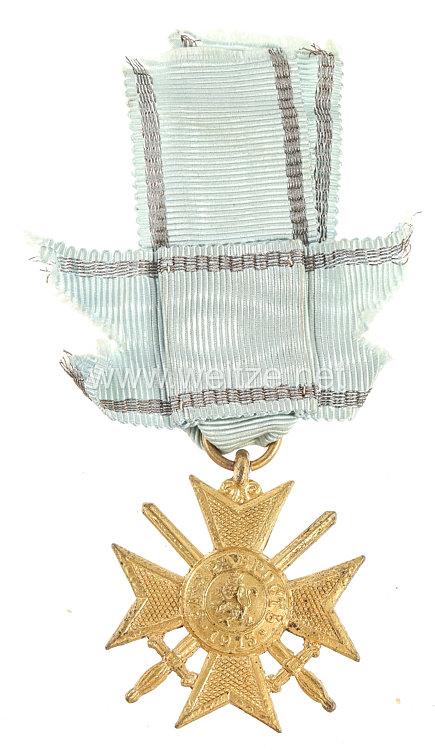 Bulgarien 1.Weltkrieg Militärverdienstkreuz mit Schwertern in Gold 1915