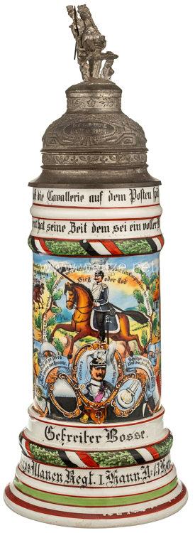 """Preußen Reservistenkrug für den Gefreiten """"Bosse"""" imKönigs-Ulanen-Regiment Nr. 13"""