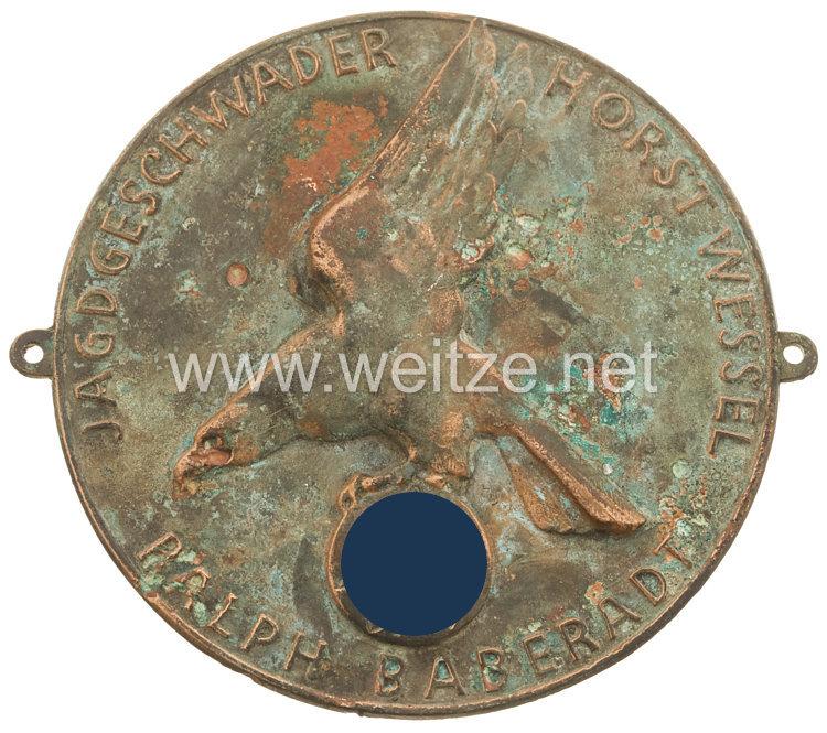 Luftwaffe - Erinnerungsplakette des Jagdgeschwaders Horst Wessel an ermordete SA-Kameraden ( Blutzeugen )