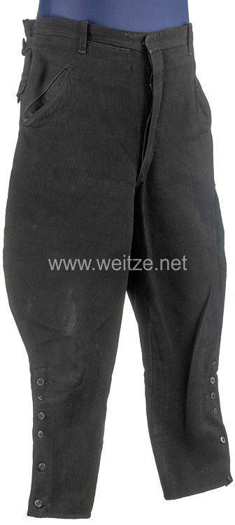 NSKK schwarze Stiefelhose