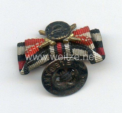 Knopflochdekoration für einen Frontsoldaten des 1. Weltkrieges