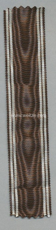 Originales Band zur NSDAP Dienstauszeichnung in Bronze