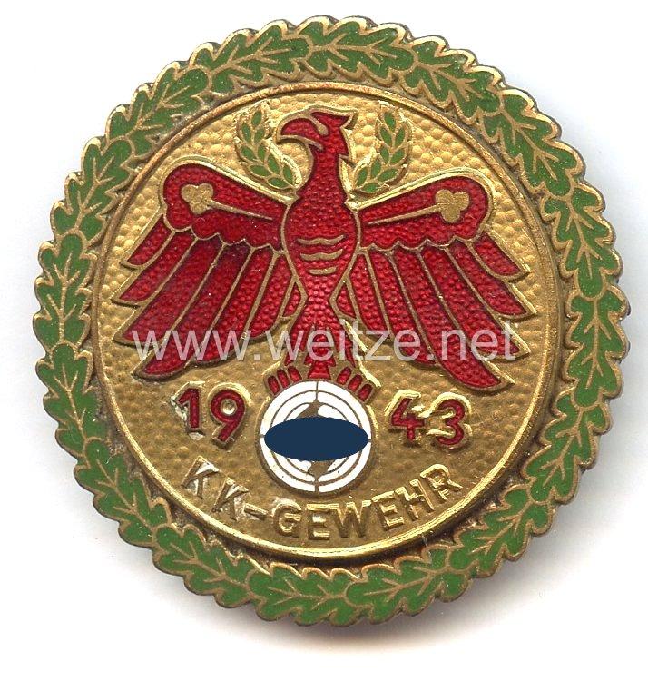 Standschützenverband Tirol-Vorarlberg -Gaumeisterabzeichen 1943 in Gold mit Eichenlaubkranz