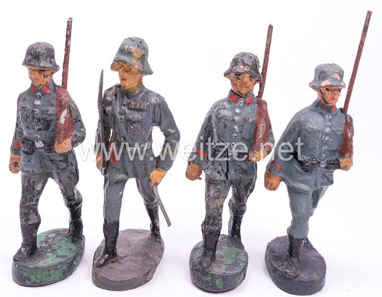 Elastolin - Ausland Heer Marschzug mit 3 Soldaten und 1 Offizier