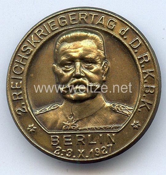 Reichskriegerbund - 2. Reichskriegertag d.D.R.K.B.K. Berlin 2.-3.10.1927