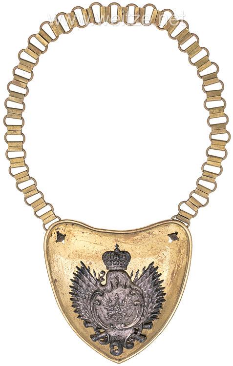 Königreich Preußen Ringkragen für Mannschaften im Kürassier-Regiment (Pommersches) Nr. 2