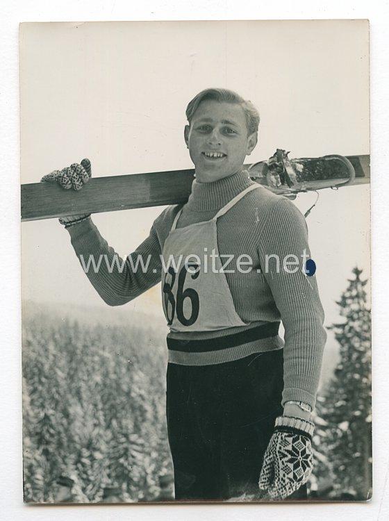 Hitlerjugend Pressefoto: Die besten Schispringer aus der HJ 20.2.1938