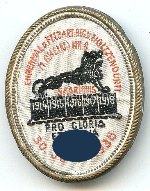 III. Reich - Ehrenmal d. Feldart.Reg. v.Holtzendorff (1.Rhein.) Nr.8 Pro Gloria et Patria 30. Juni 1935