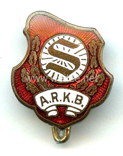 """Sozialismus - Arbeiter-Rad- und Kraftfahrerbund """" Solidarität """" ( ARKB ) -Mitgliedsabzeichen 3. Form"""