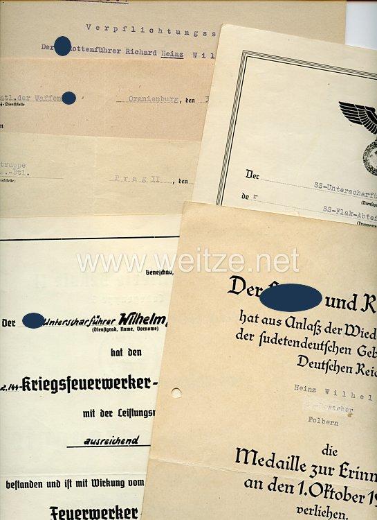 Waffen-SS - Dokumentengruppe für einen SS-Oberscharführer der SS-Flak-Abt.16