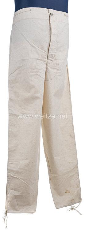 Bayern weiße lange Drillichhose (Arbeitshose) für Mannschaften