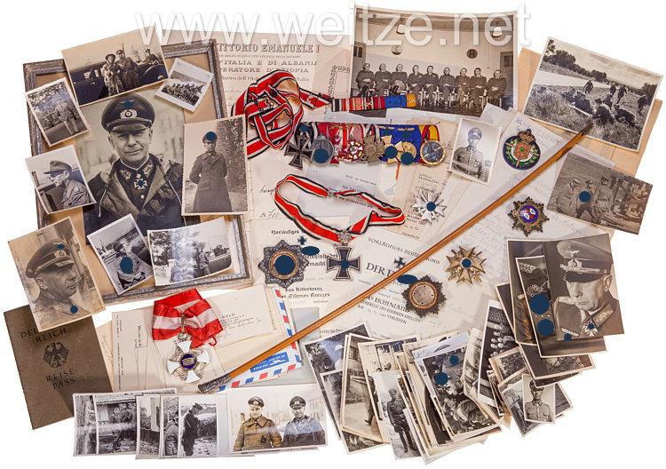 Großer Ordens-, Foto- und Dokumentennachlass des späteren Ritterkreuz und Eichenlaubträger General der Artillerie Walter Lucht.