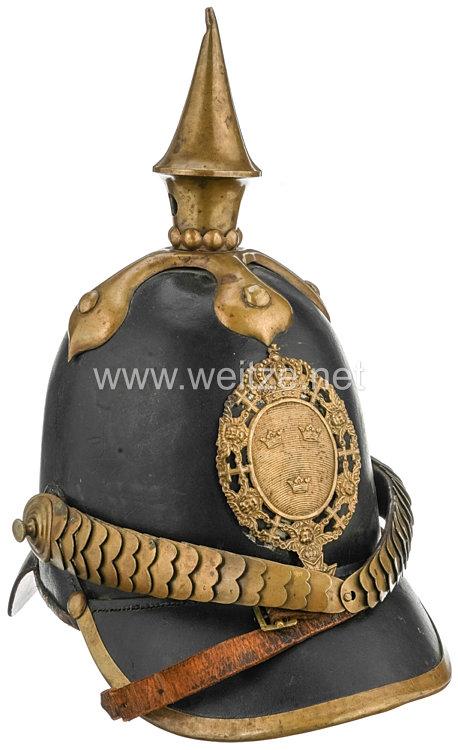 Schweden Pickelhaube Modell 1842 für Mannschaften der Infanterie