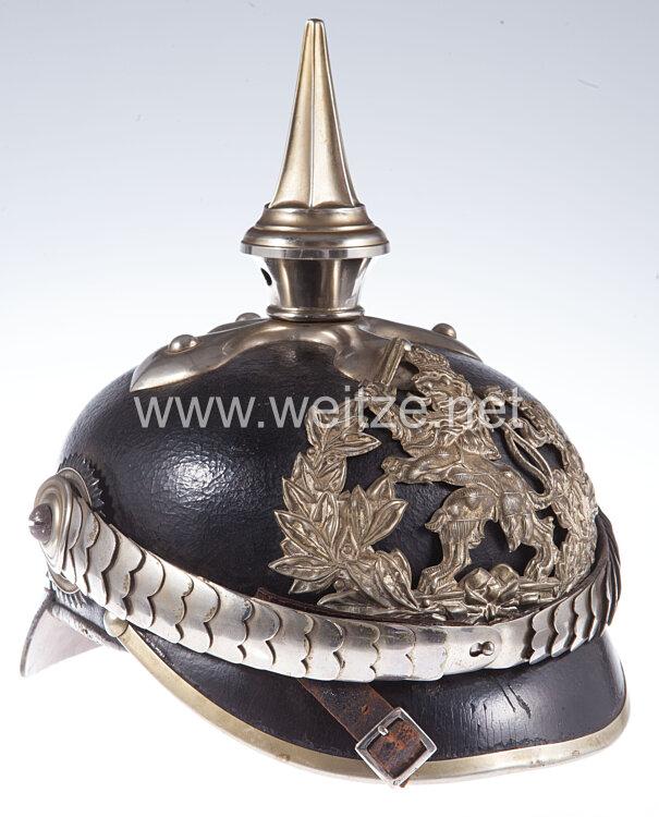 Hessen Pickelhaube für einen Unteroffizier im Leib-Dragoner-Regiment (2. Großherzogl. Hess.) Nr. 24