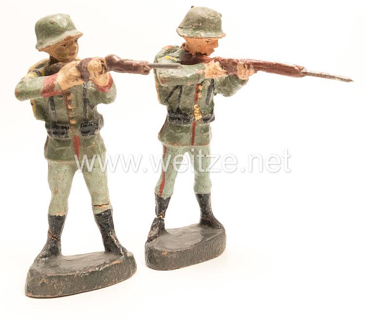 Elastolin - Heer 2 Soldaten stehend schießend