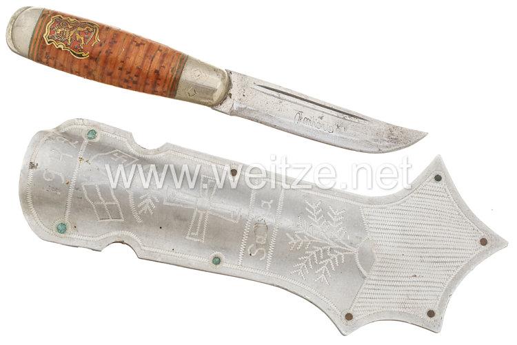 "Finnland traditionelles Messer, sogenanntes ""Puko"" ."