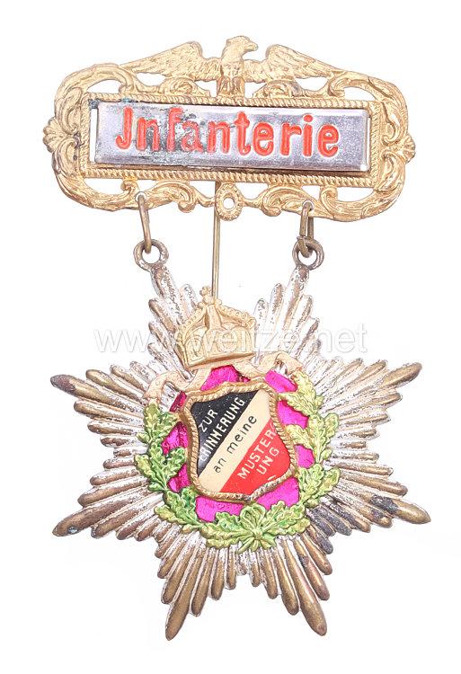 """Deutsches Reich großes patriotisches Abzeichen """"Zur Erinnerung an meine Musterung - Infanterie"""""""