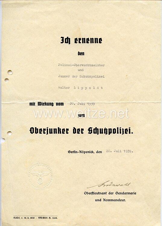 III. Reich - Originalunterschrift von Oberstleutnant der Gendarmerie Hans-Dietrich Grünwald