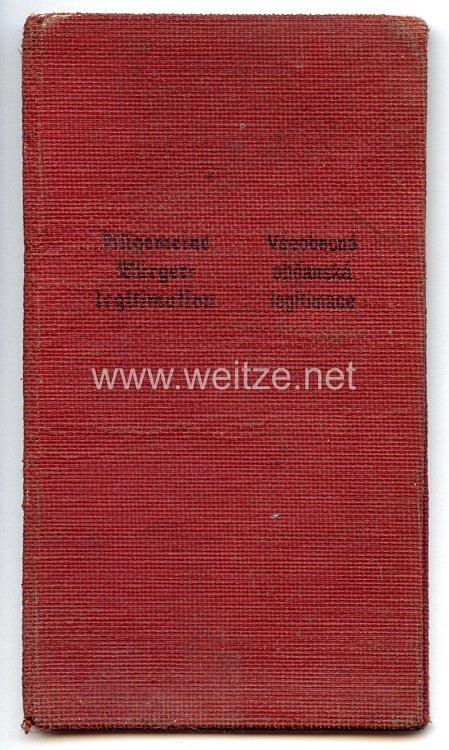 III. Reich - Protektorat Böhmen und Mähren - Allgemeine Bürgerlegitimation für einen Mann des Jahrgangs 1906