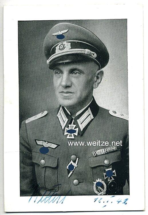 Heer - Originalunterschrift von Ritterkreuzträger Major Franz Ketterl