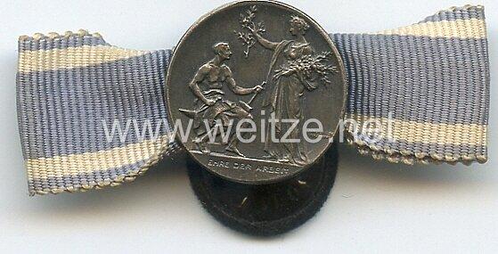 Bayern Verdienstmedaille des Bayerischen Industriellen Verbandes - Knopflochdekoration mit Miniatur .