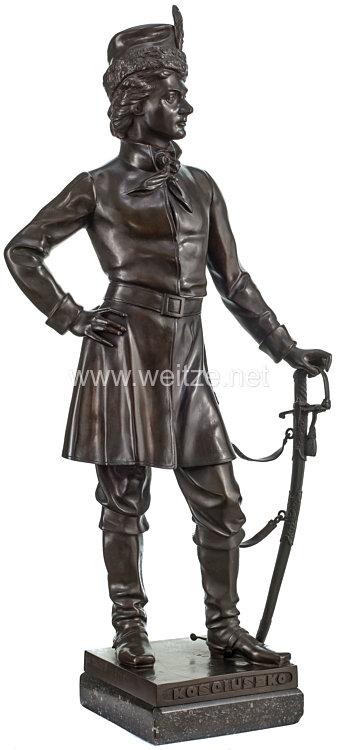 Polen große Bronzestatue des polnischen Freiheitshelden und Generals Tadeusz Kosciuszko