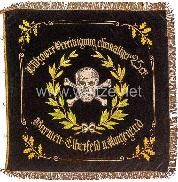 """Preußen Kriegervereinsfahne der """"Lützower Vereinigung ehemaliger 25er Barmen-Elberfeld u. Umgebung"""""""