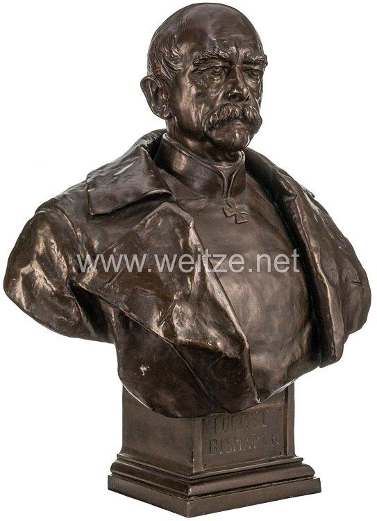 Reichskanzler Fürst Otto von Bismarck - überlebensgroße Bronzebüste