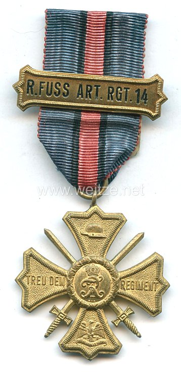 Regiments-Erinnerungskreuz des Reserve-Fußartillerie-Regiment Nr.14