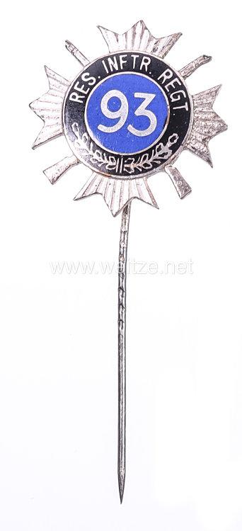 Preußen Abzeichen für ehemalige Angehörige des Reserve-Infanterie Regiment Nr. 93