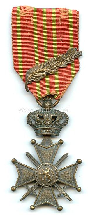 """Belgien """"Croix de Guerre 1914-1918, Croix Albert 1er """" mit Palme"""
