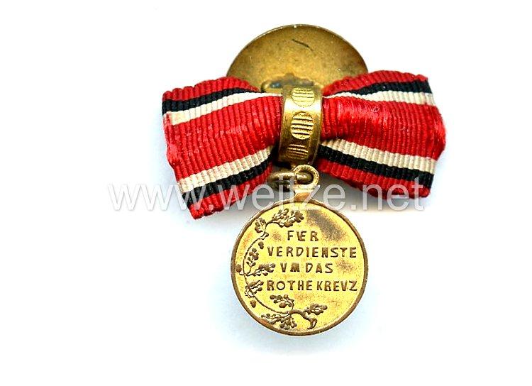 Preussen Rot-Kreuz-Medaille 3. Klasse -als Knopflochdekoration