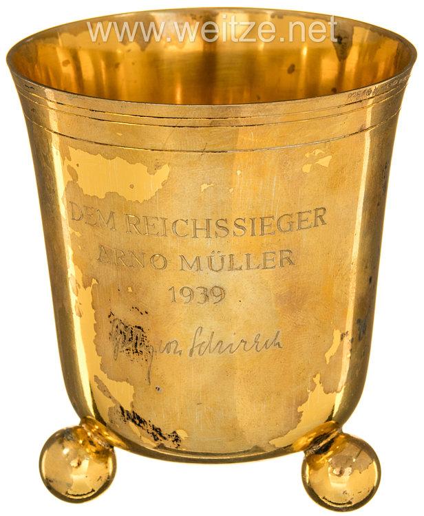 Hitlerjugend ( HJ ) - Ehrenbecher des Reichsjugendführers Baldur von Schirach für einen Reichssieger 1939