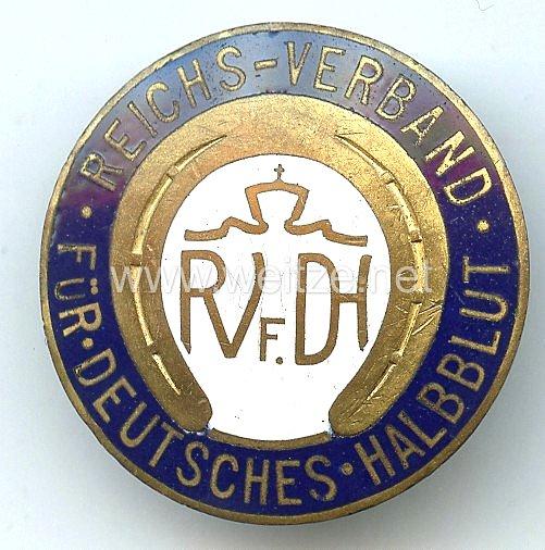 Reichsverband für Deutsches Halbblut ( RVfDH ) -Mitgliedsabzeichen blau emailliert