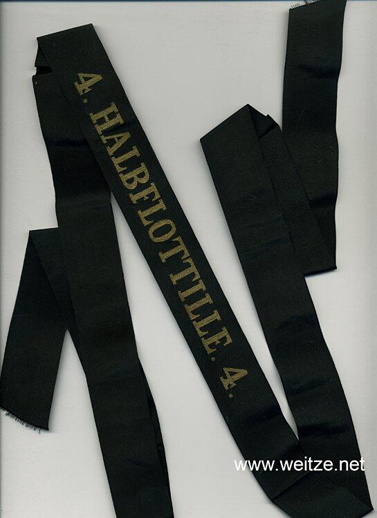 "Mützenband ""4. Halbflottille. 4."""