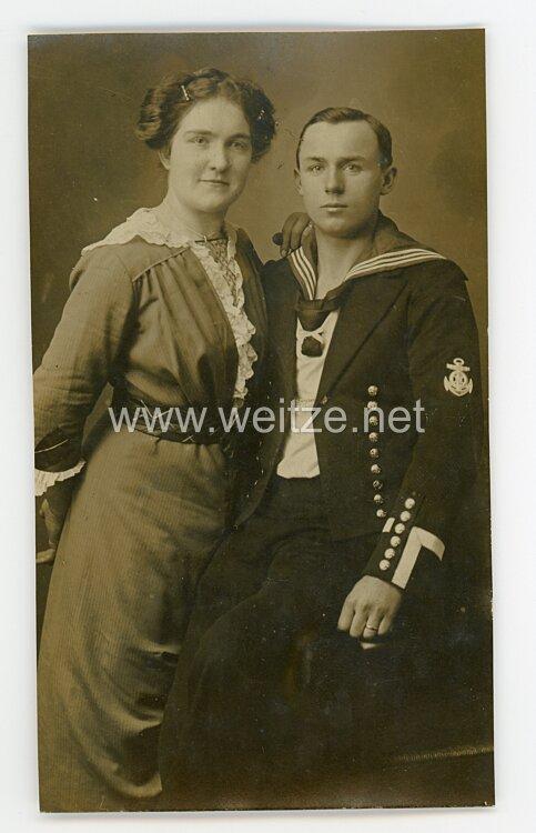 Kaiserliche Marine Foto Maschinisten-Maat mit seiner Frau