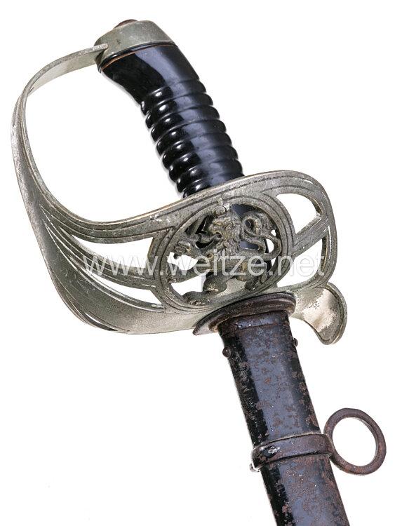 Großherzogtum Hessen Kavallerie Extradegen (KD) 89 für einen Angehörigen im Leib-Dragoner-Regiment (2. Großherzoglich Hessisches) Nr. 24 .