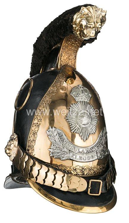 Königreich Hannover Helm für einen Fähnrich im 1. Regiment Königs Dragoner