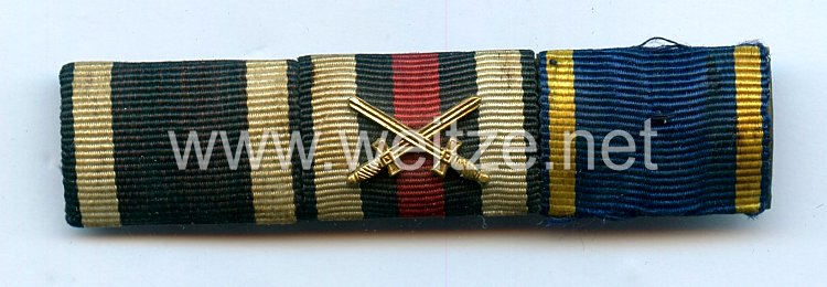 Bandspange für einen braunschweigischenVeteranen im 1. Weltkrieg