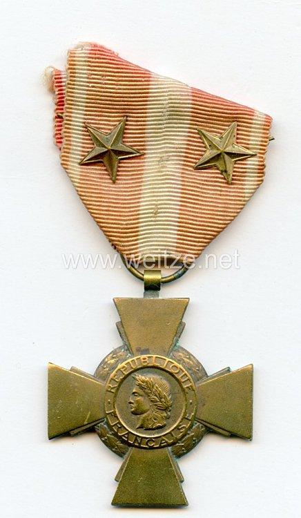 """Frankreich """"Croix de la Valeur Militaire"""" mit 2 Sternen"""