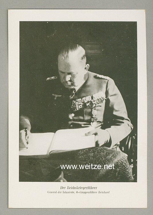 Waffen-SS - Portraitpostkarte von SS-Gruppenführer Reinhard - Reichskriegerführer